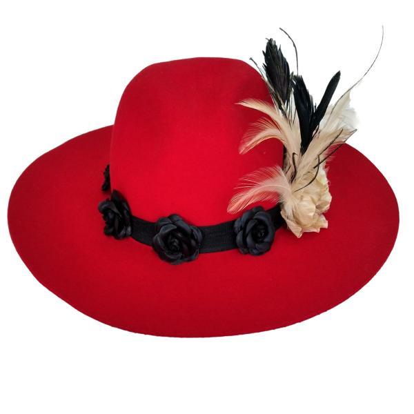 Chapéu Luxo para Pombagira com rosas