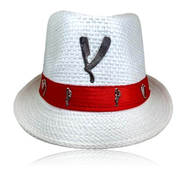 Chapéu Panamá de Malandro com Navalha prateada