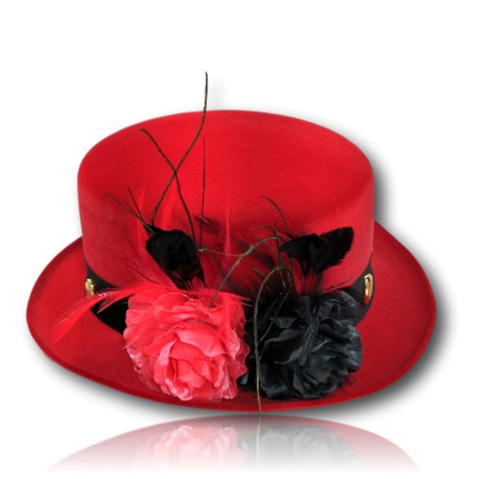 Chapéu Luxo para PombaGira Coco Diplomata Classic com rosas