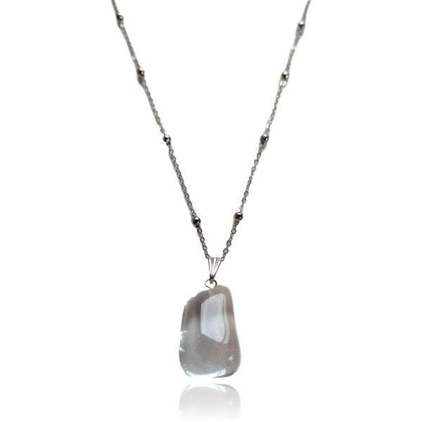 Colar de Pedra Cristal