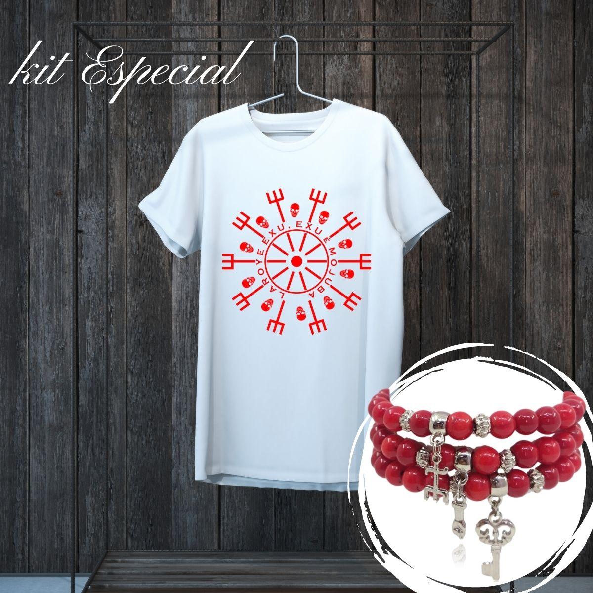 Kit de Exú - Pulseira e Camiseta
