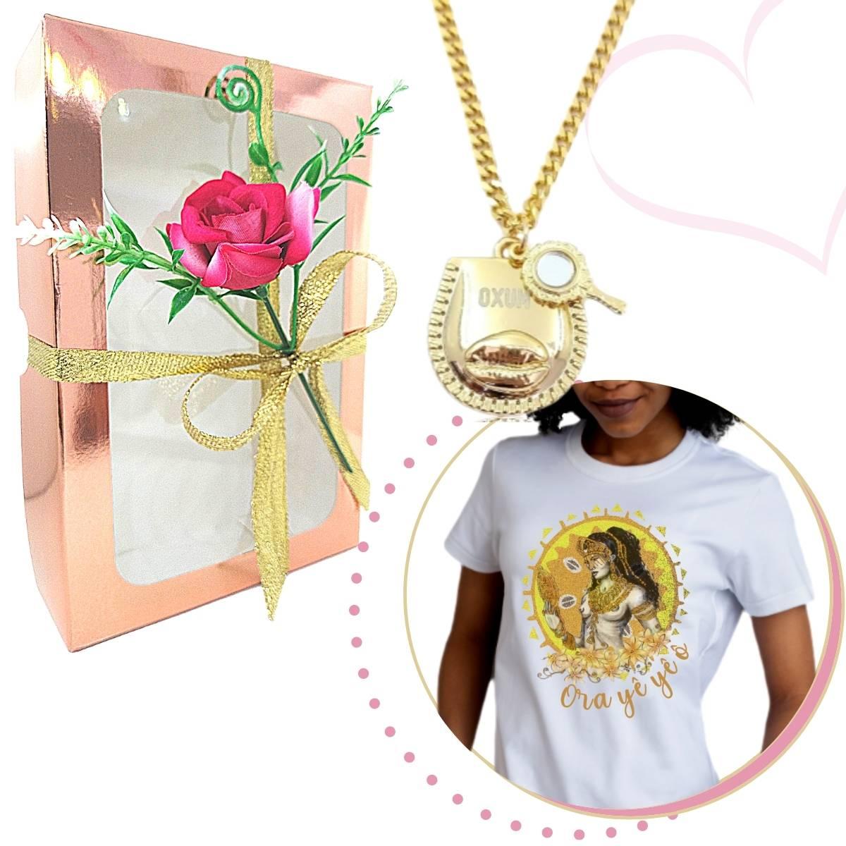 Kit de Oxum - Colar Patuá e Camiseta