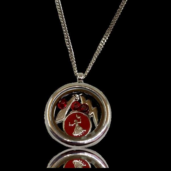 Relicário de Iansã com Medalha, Raio, Espada e Miçangas