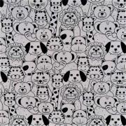 Folha de Eva Com Tecido Animais Kids 40x30 cm