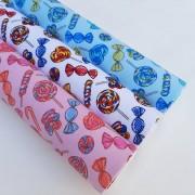 Folha de Eva Com Tecido Balas e Pirulitos 40x30 cm