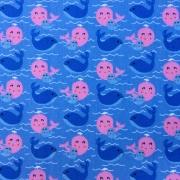 Folha de Eva Com Tecido Baleias 40x30 cm