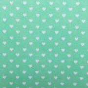 Folha de Eva Com Tecido Corações Verde Água