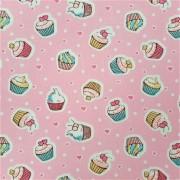 Folha de Eva Com Tecido Cupcakes 40x30 cm