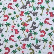 Folha de Eva Com Tecido Dinossauros