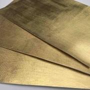 Folha de Eva Com Tecido Dourado Premium 40x30 cm