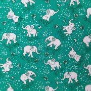 Folha de Eva Com Tecido Elefantinhos