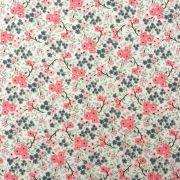Folha de Eva Com Tecido Floral Rosa e Cinza