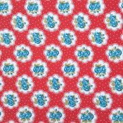 Folha de Eva Com Tecido Floral Vermelho e Azul 40x30 cm