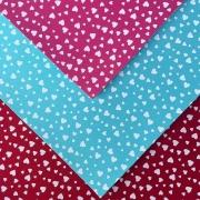Folha de Eva Com Tecido Mix Corações 40x30 cm