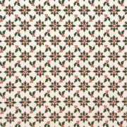 Folha de Eva Com Tecido Natal Branco Azevinhos