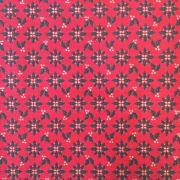 Folha de Eva Com Tecido Natal Vermelho Azevinhos