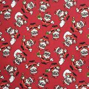 Folha de Eva Com Tecido Natal Vermelho Papai Noel