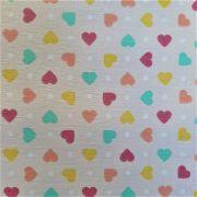 Folha de Eva Com Tecido Nude com Corações 40x30 cm