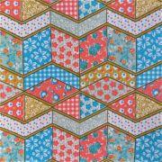 Folha de Eva Com Tecido Patchwork Colorido 40x30 cm