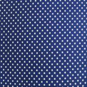 Folha de Eva Com Tecido Poá Azul Escuro com Branco 40x30 cm
