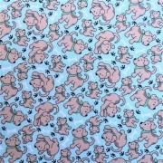 Folha de Eva Com Tecido Premium Cachorrinhos Filhotes 40x30 cm