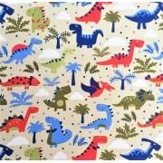 Folha de Eva Com Tecido Premium Dinossauro Kids 40x30 cm