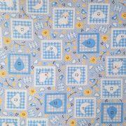 Folha de Eva Com Tecido Sonho Infantil Azul