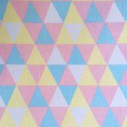 Folha de Eva Com Tecido Triângulos Candy Color