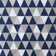 Folha de Eva Com Tecido Triângulos Cinza E Azul 40x30 cm
