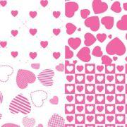 Folha de Eva Estampado Corações 4x1