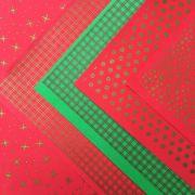 Folha de EVA Estampado Natal Metalizado