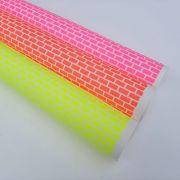 Folha de Eva Estampado Tijolinho Neon