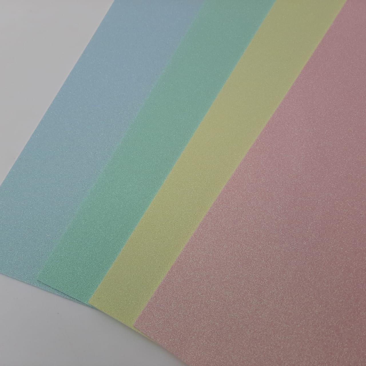 Combo de Eva Glitter Candy Premium  - 04 Folhas