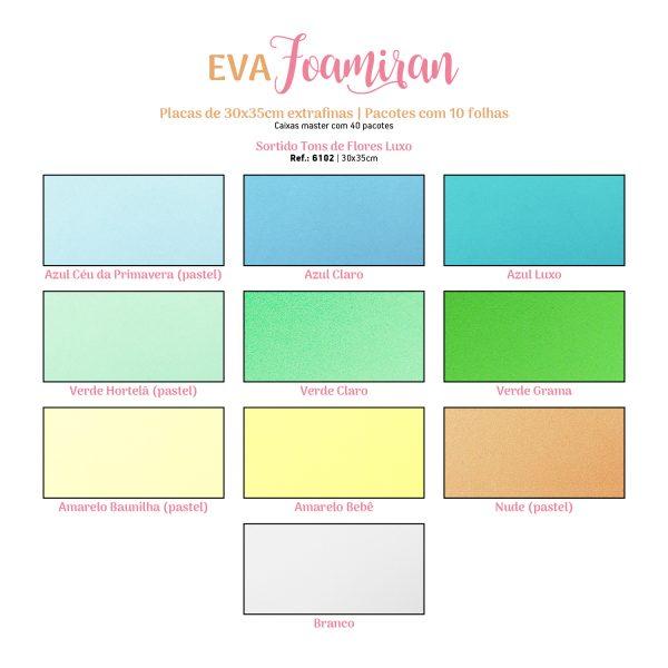 Eva Foamiran 30x35 Cm  0,7 mm Pct c/ 10