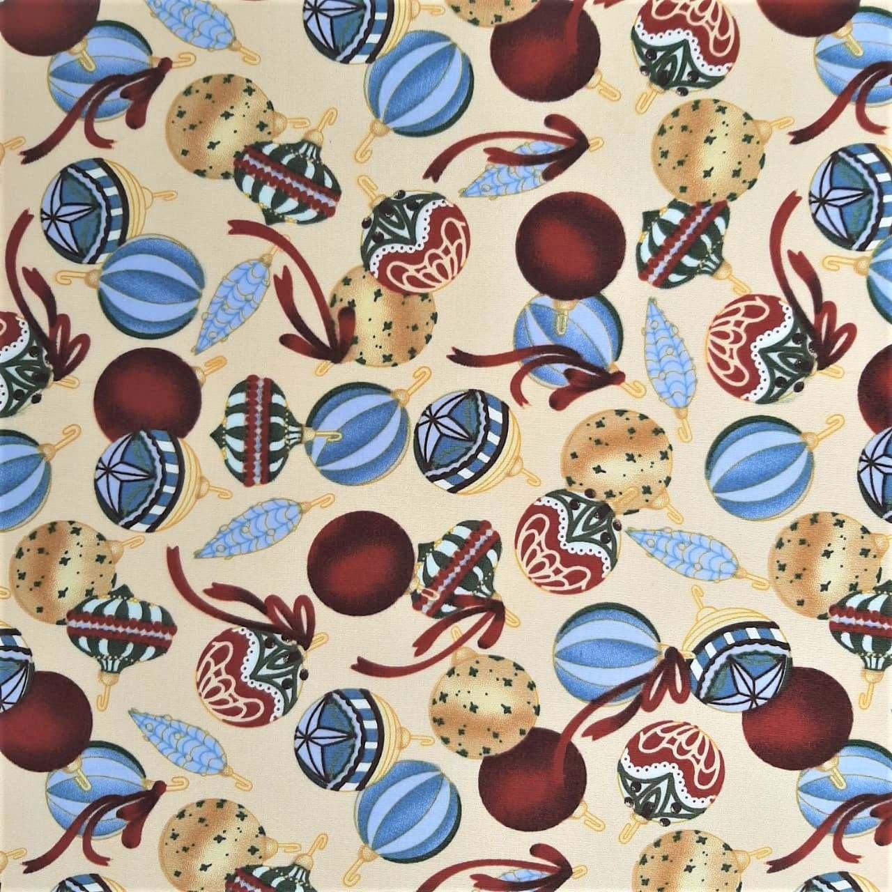 Folha de Eva Com Tecido Bolas Natalinas 40x30 cm