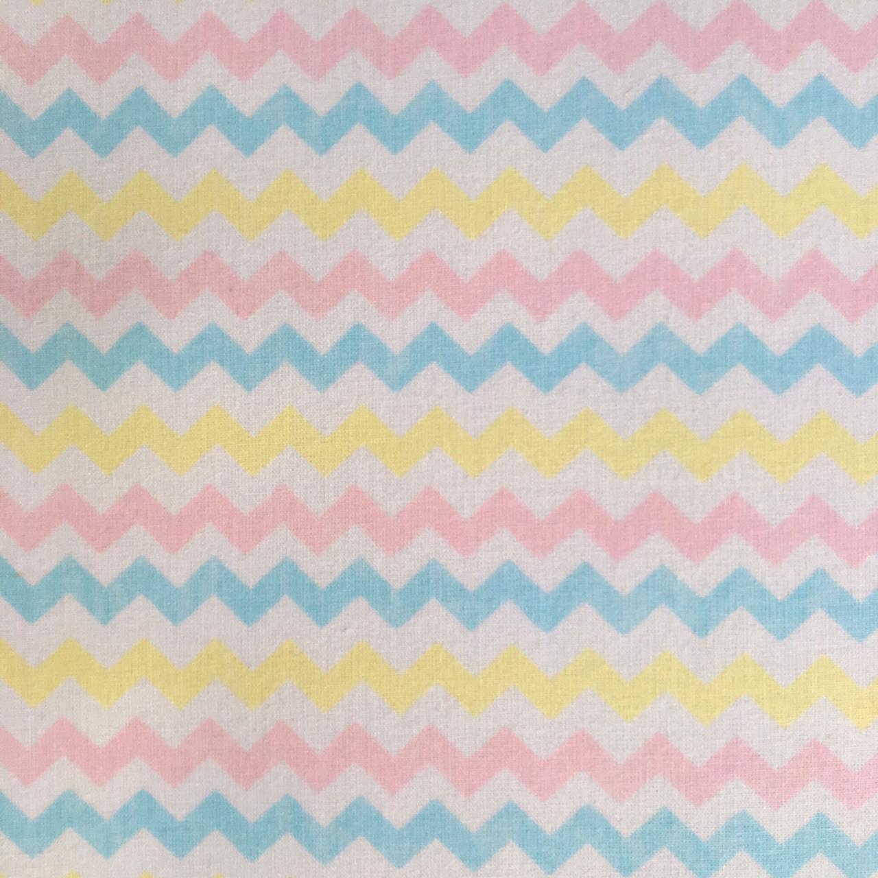 Folha de Eva Com Tecido Chevron Candy Color 40x30 cm