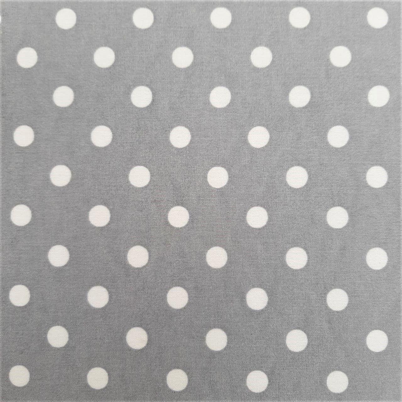 Folha de Eva Com Tecido Cinza com Bolas Brancas 40x30 cm