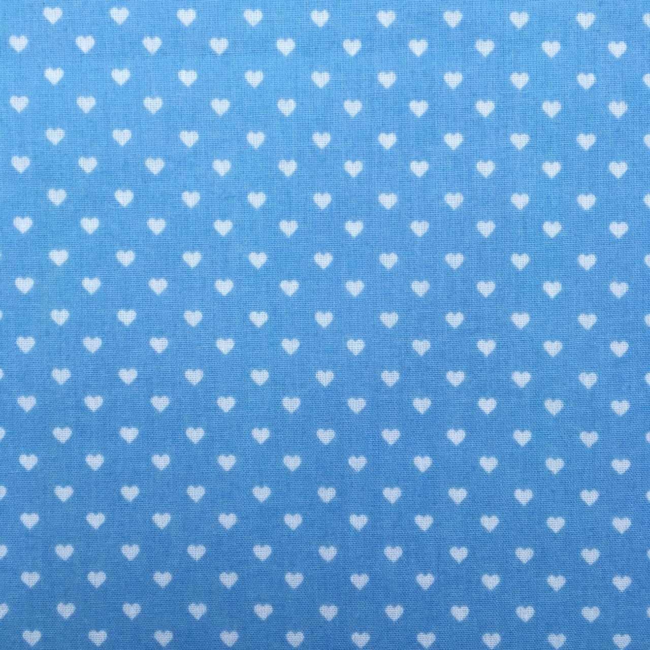 Folha de Eva Com Tecido Corações Azul 40x30 cm