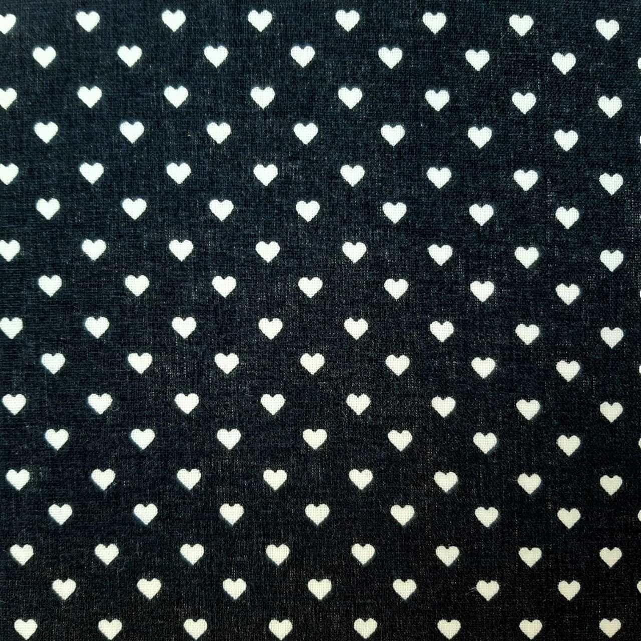 Folha de Eva Com Tecido Corações Azul Marinho 40x30 cm