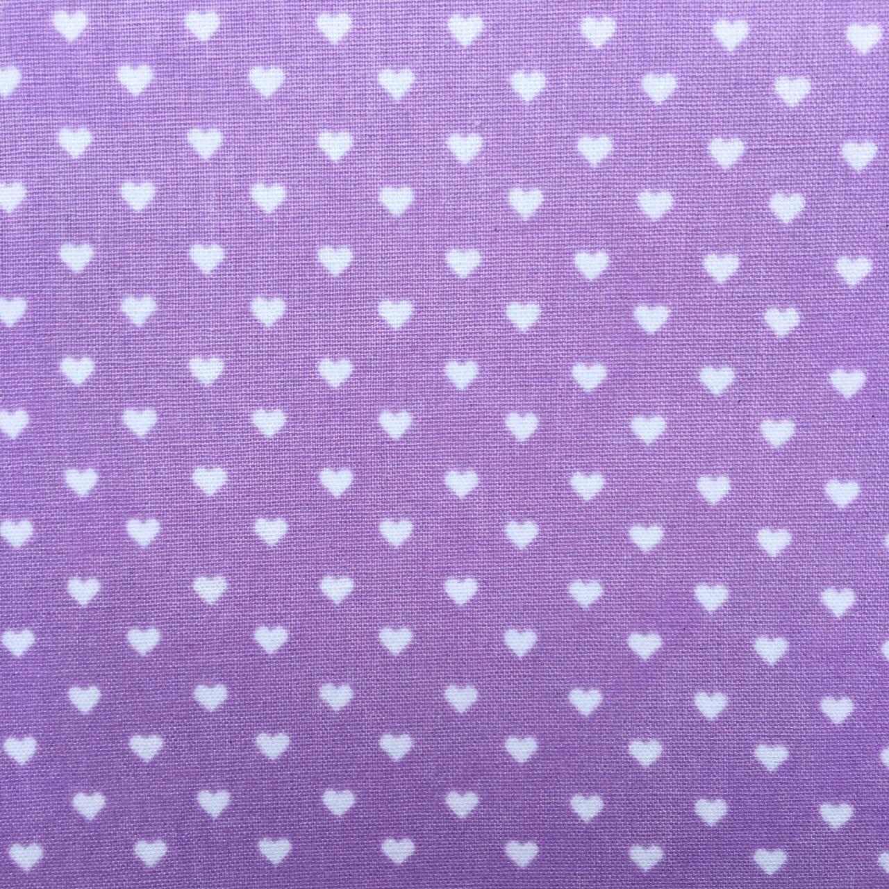 Folha de Eva Com Tecido Corações Lilás 40x30 cm