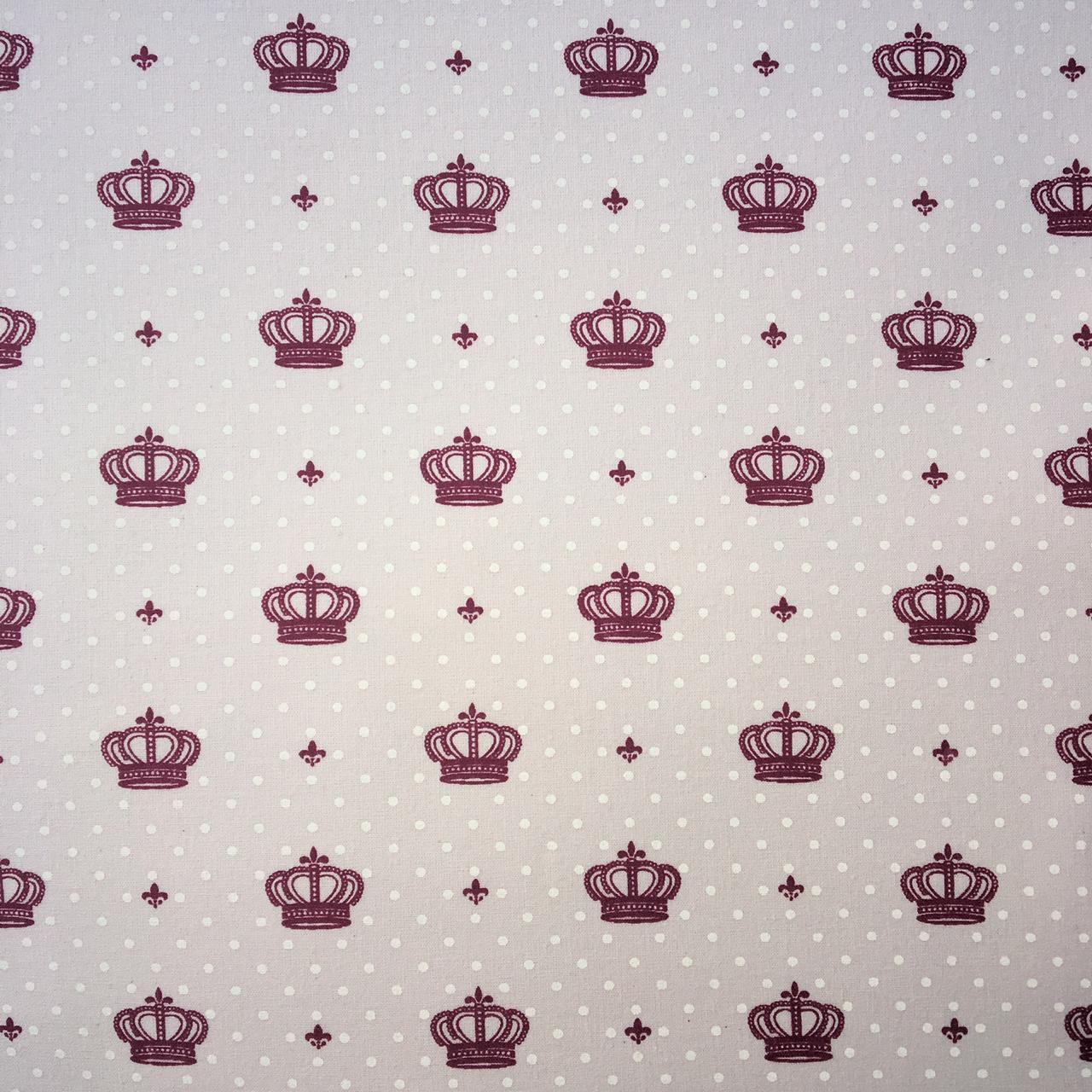 Folha de Eva Com Tecido Coroas Rosa