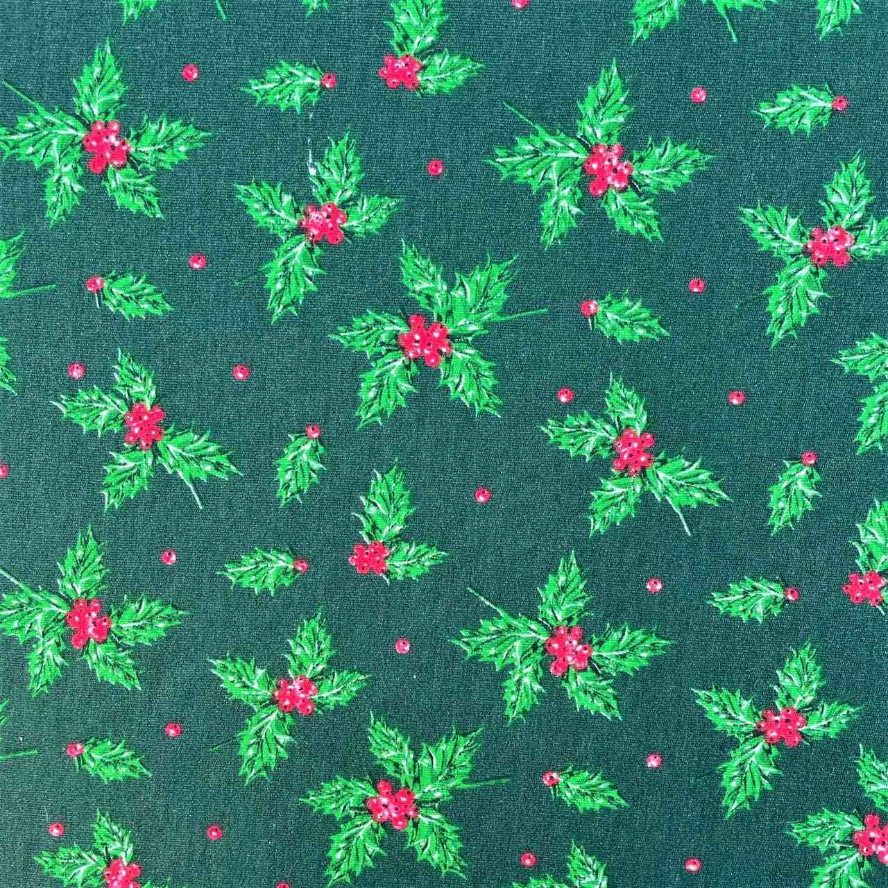 Folha de Eva Com Tecido de Natal 2021 - Coleção 2 - 40x30 cm