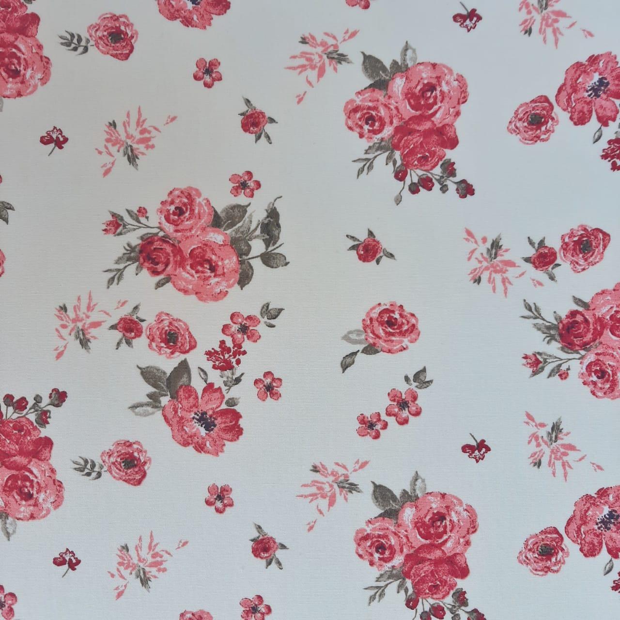 Folha de Eva Com Tecido Floral Pêssego 40x30 cm