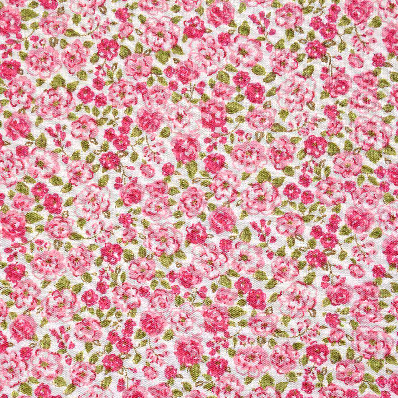 Folha de Eva Com Tecido Floral Rosa