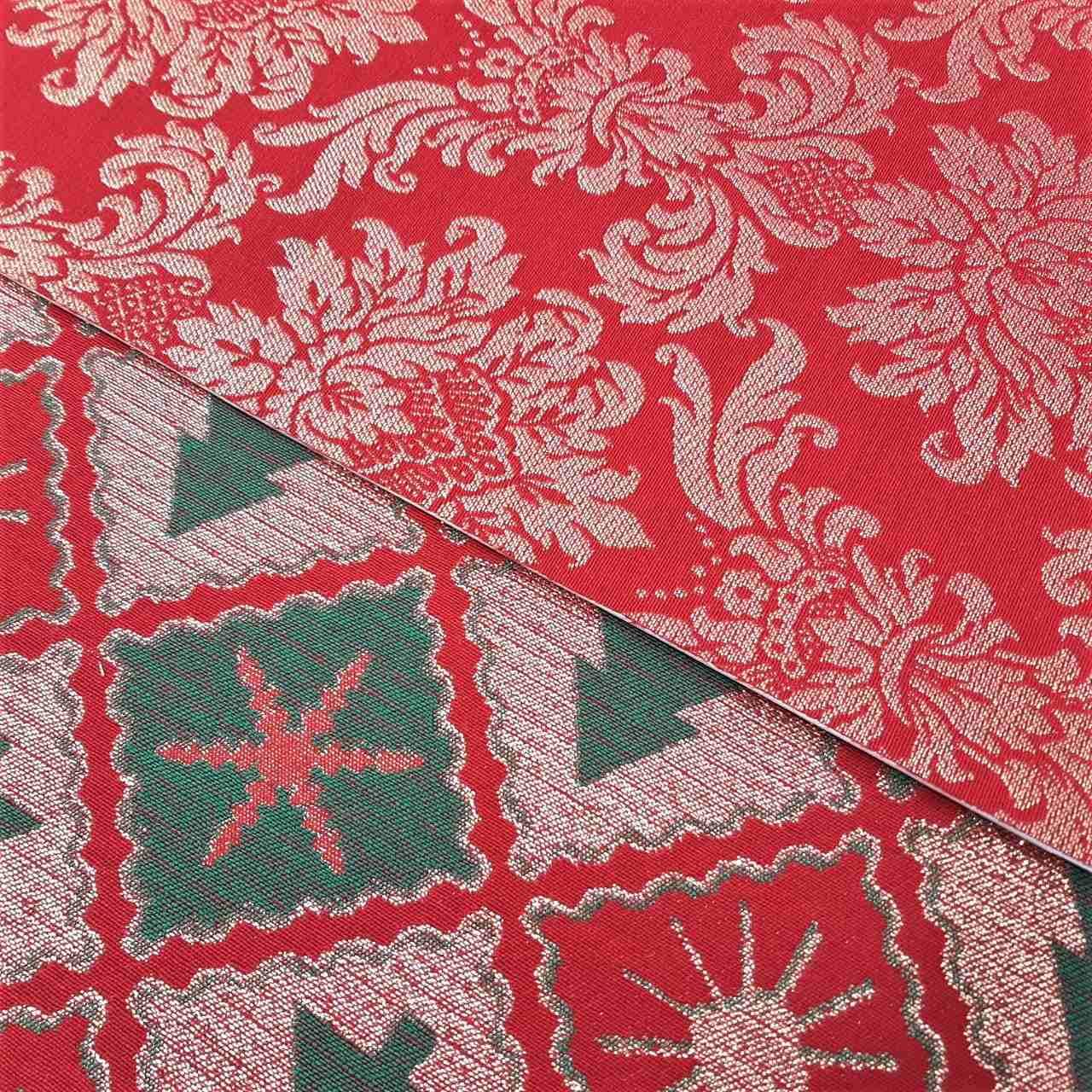 Folha de Eva Com Tecido Natal Lurex 40x30 cm