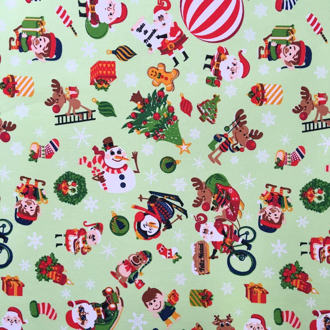 Folha de Eva Com Tecido Natal Verde Claro Natal Kids