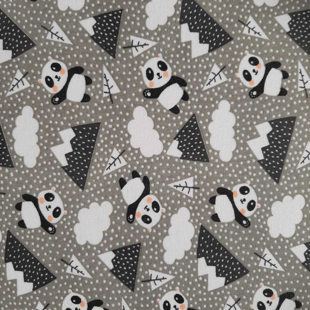 Folha de Eva Com Tecido Panda Kids 40x30 cm