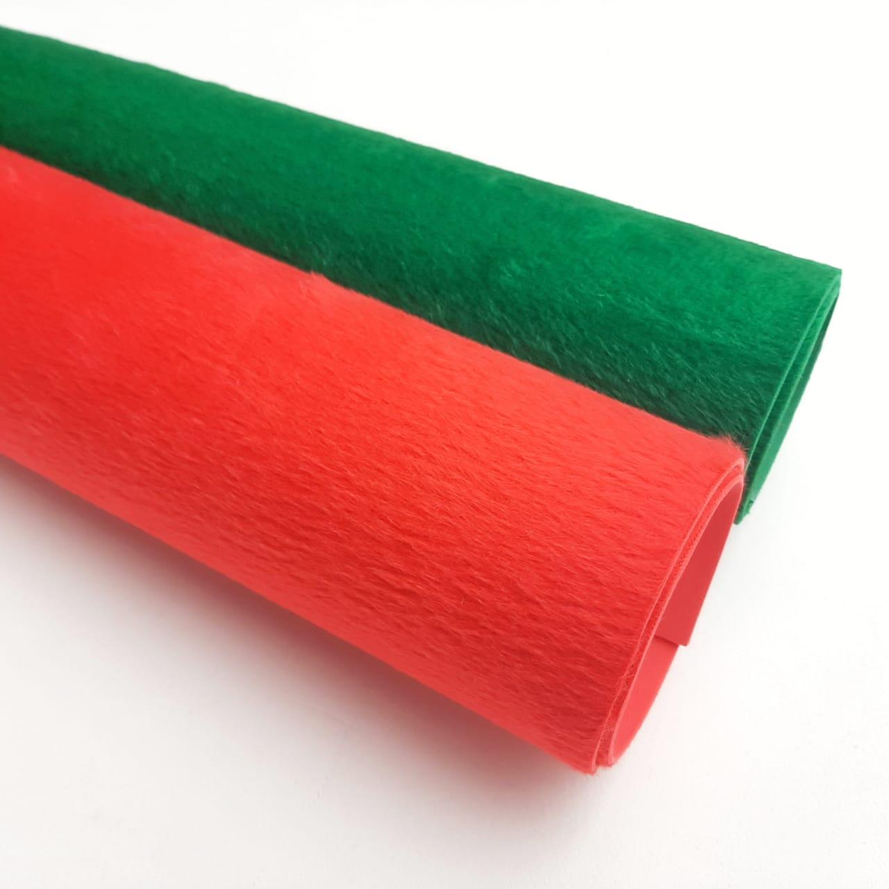 Folha de Eva Com Tecido Peluciado NATAL 40x30 cm