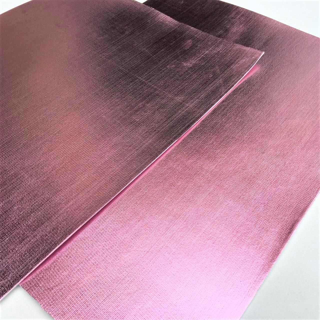 Folha de Eva Com Tecido Rosé Premium 40x30 cm