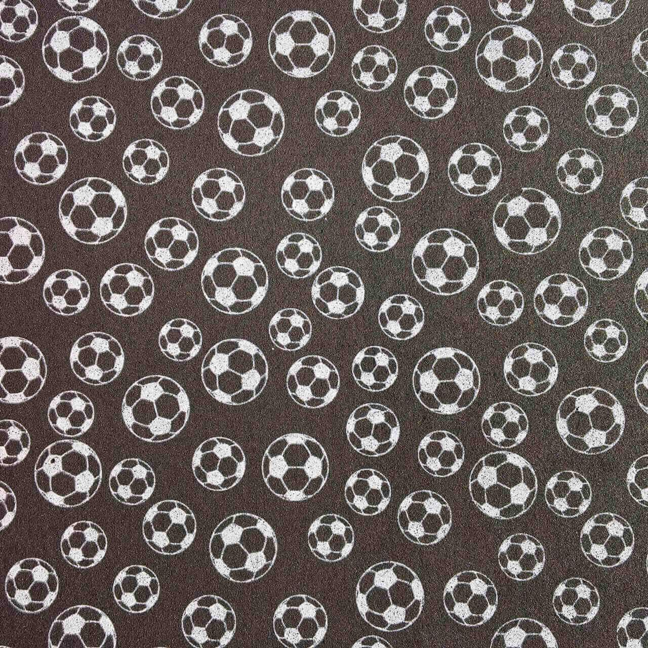 Folha de Eva Estampado Bola de Futebol